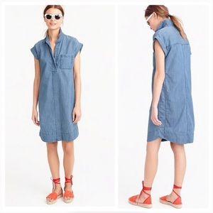 J. CREW || Chambray Shirt Dress